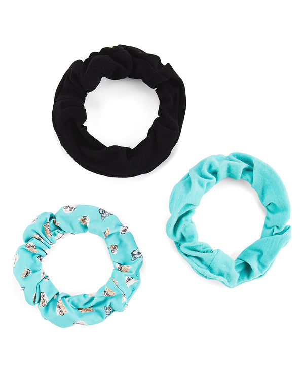 Studious Cats 3-Pack Scrunchies