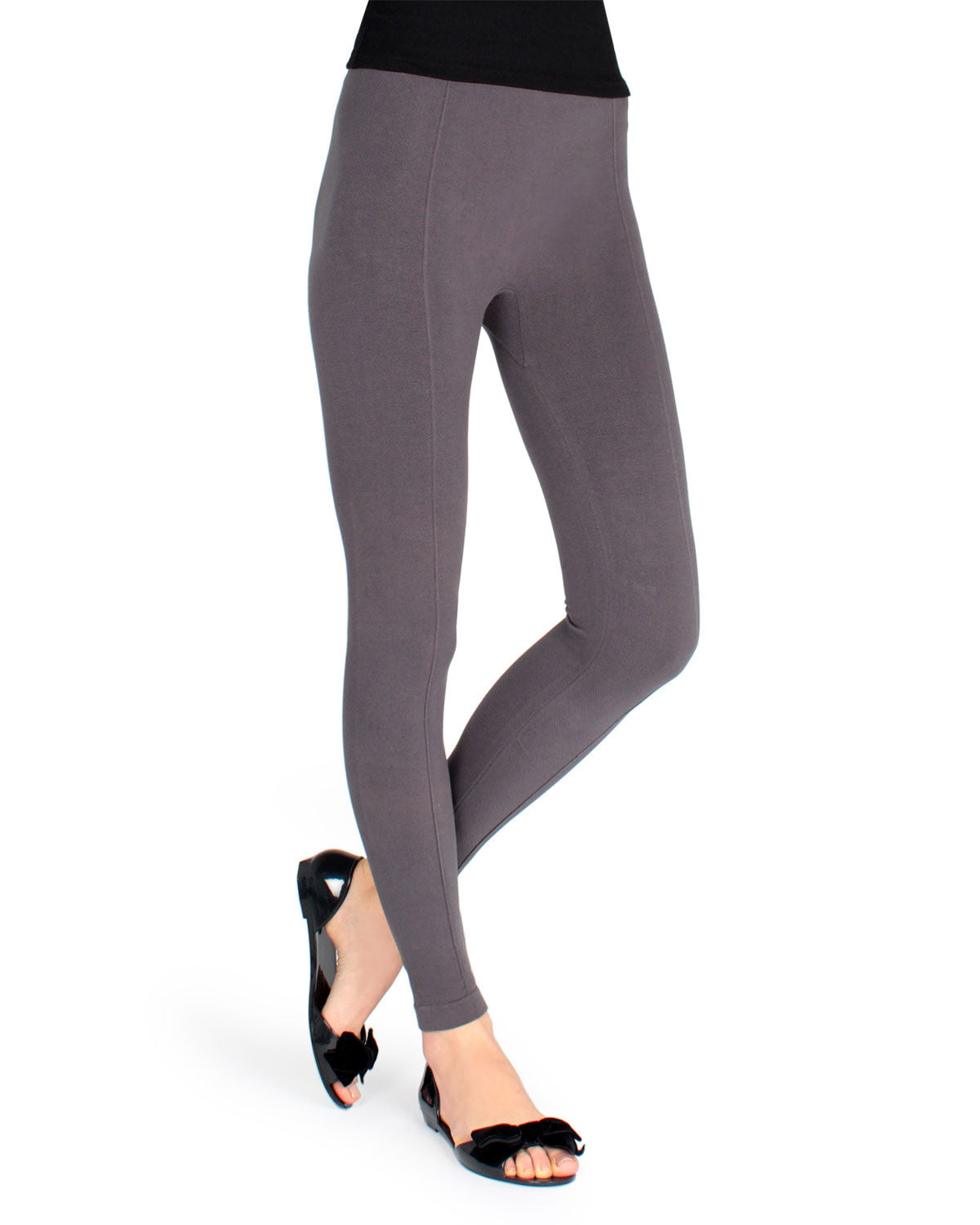 Solid Yoga Pants Sketch Knit Leggings