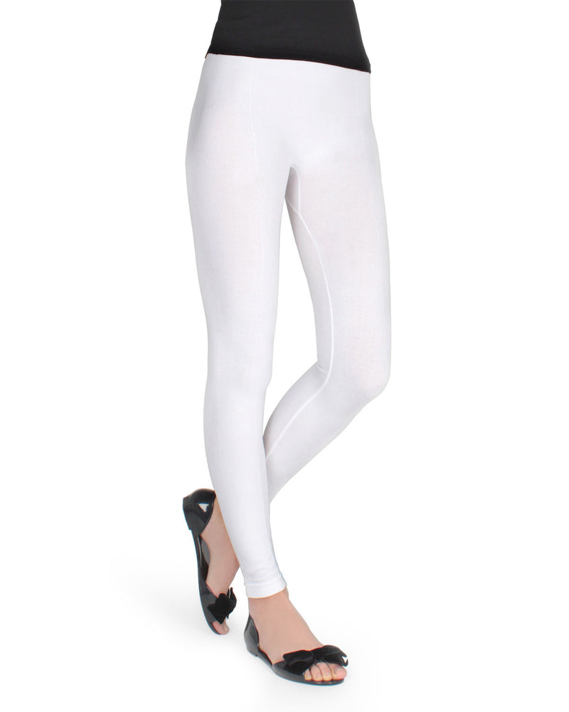 Memoi White Sketch Leggings | Women's Hosiery - Premium Leggings