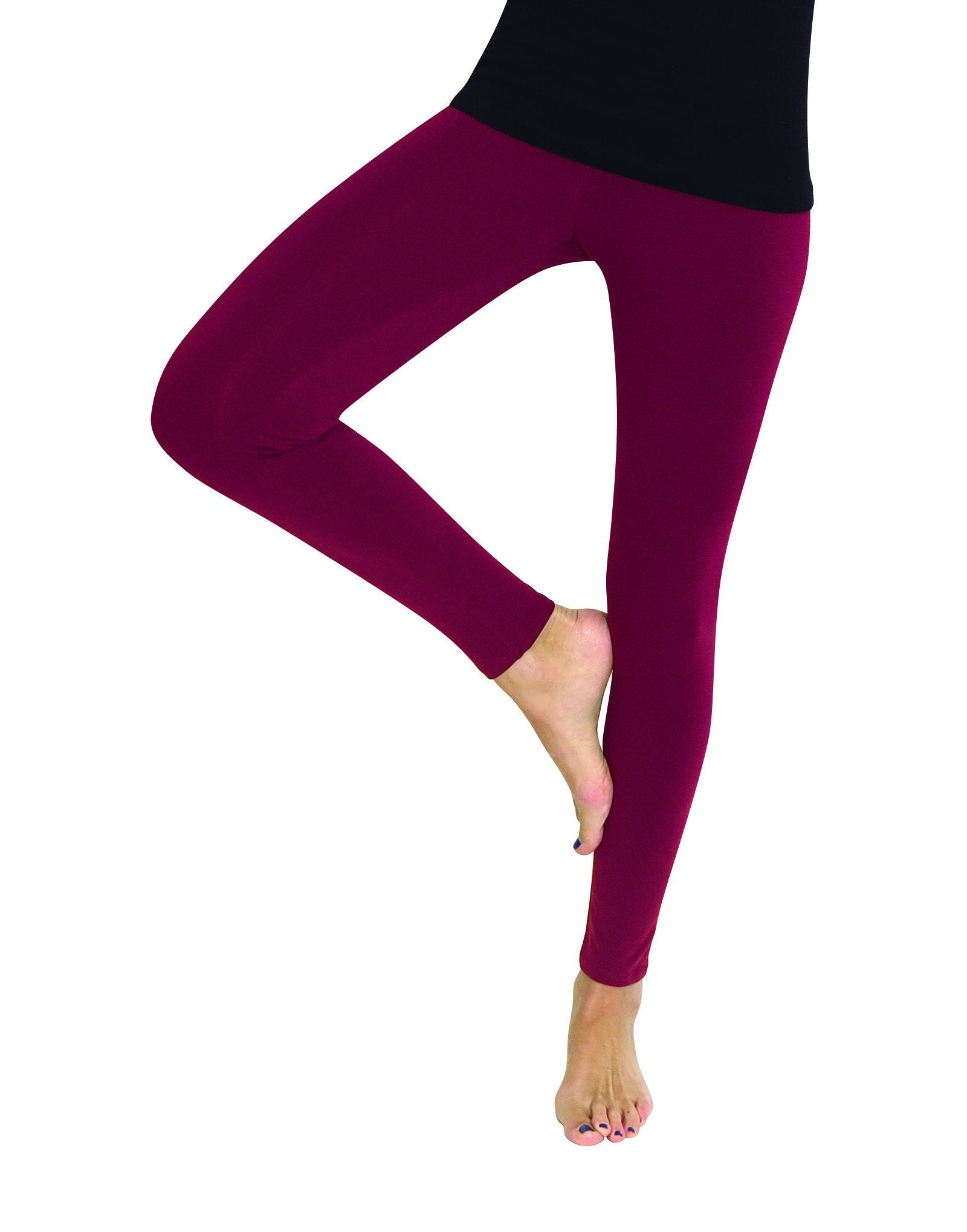Premium Fleece Footless Tights - Assorted Colors - MeMoi - 2