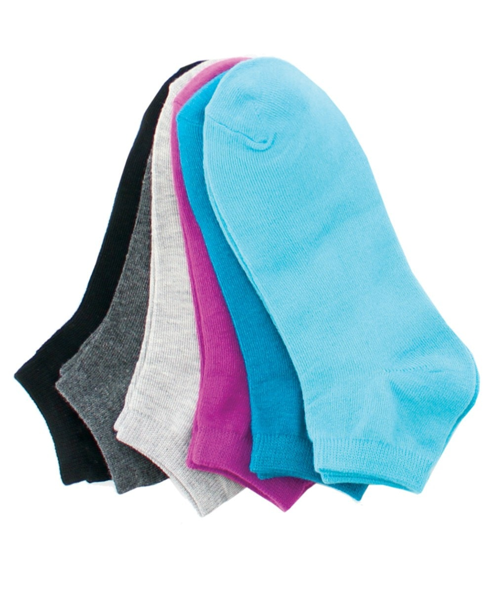 Women's 6 Pair Low-Cut One Size Socks - MeMoi - 1