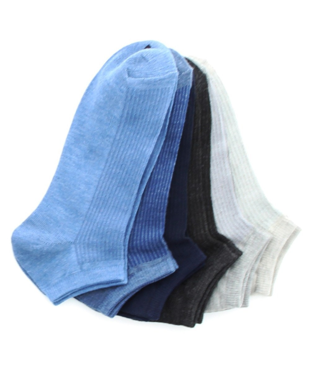 Ribbed Low Cut 6 Pair Women's Socks - MeMoi - 5