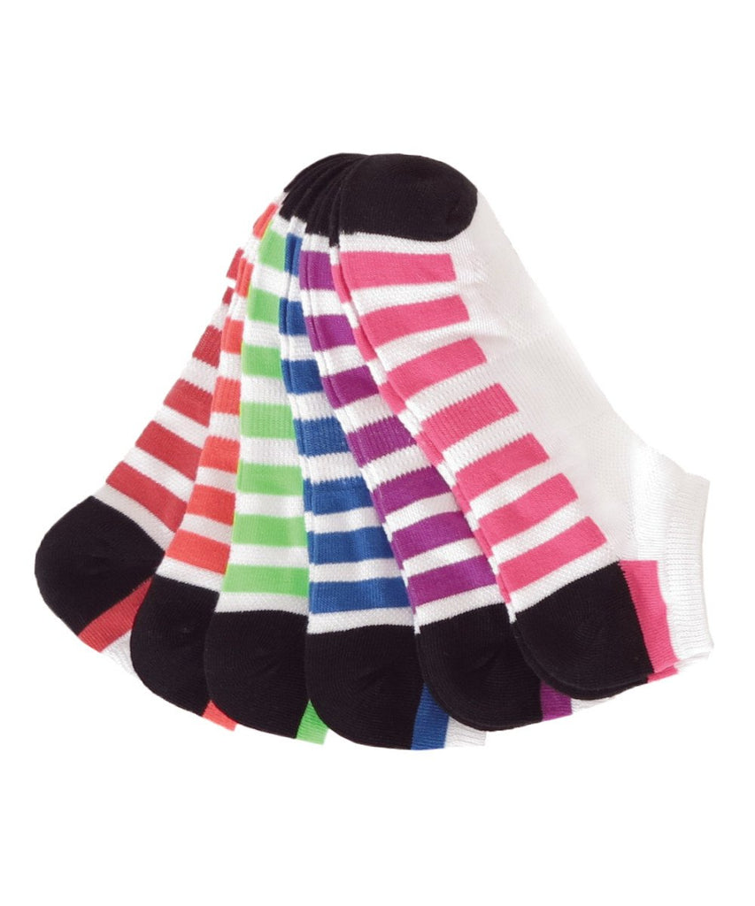 Half Track Low Cut 6 Pair Women's Socks - MeMoi