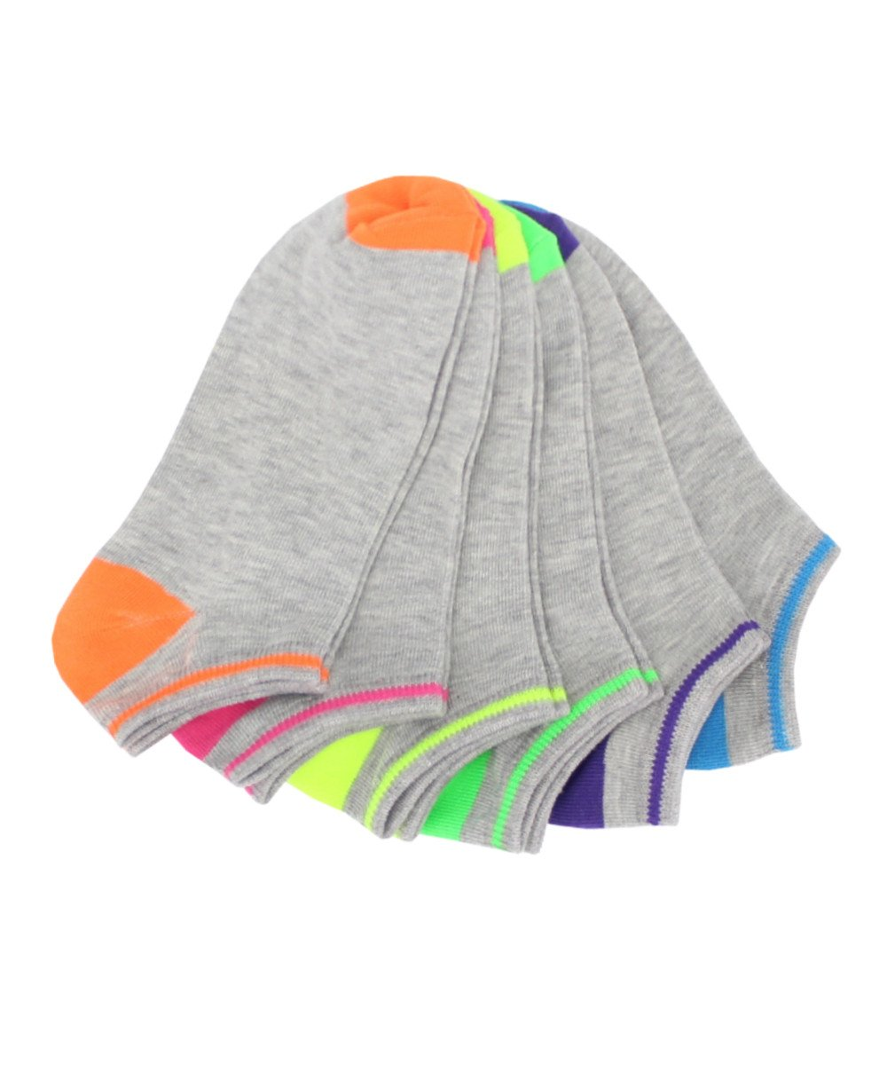 Subtle Tip Low Cut 6 Pair Women's Socks - MeMoi - 2