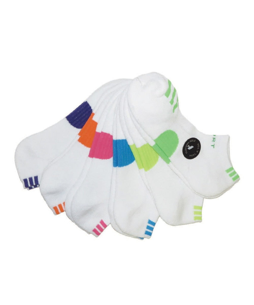 Triple Patch Cushioned Low Cut 6 Pair Women's Socks - MeMoi