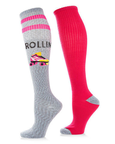 Rollin' 2-Pack Polyester Knee High Socks