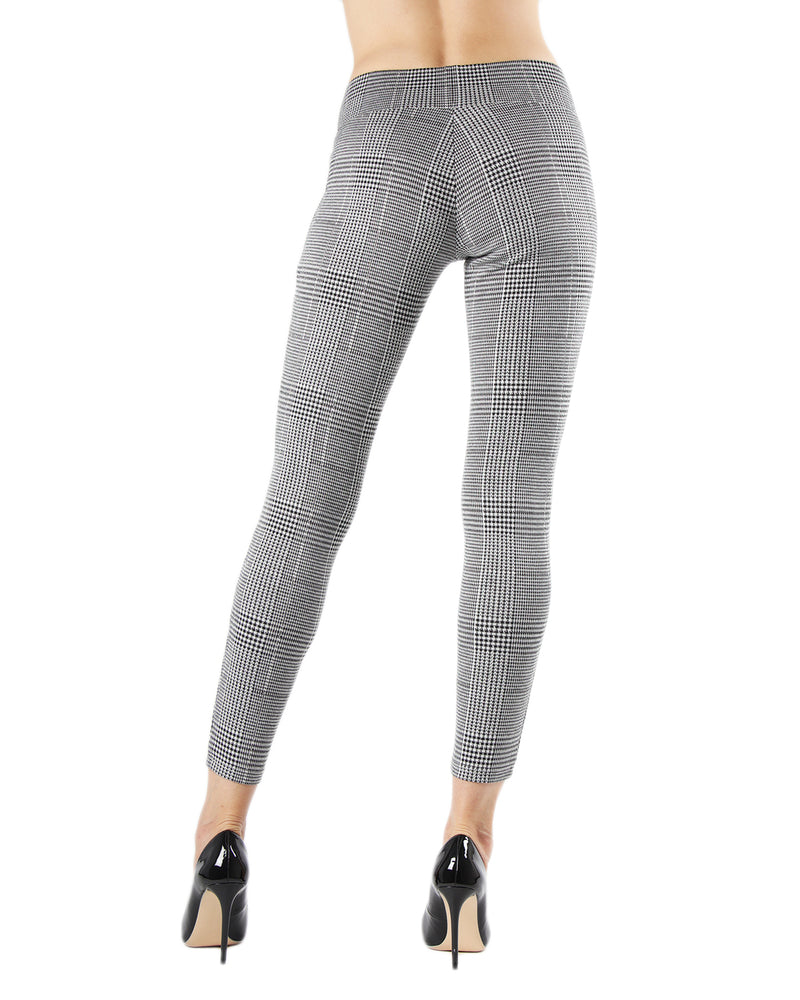 Herringbone Shaping Leggings | Leggings by MeMoi | MJF05440 | Black 2