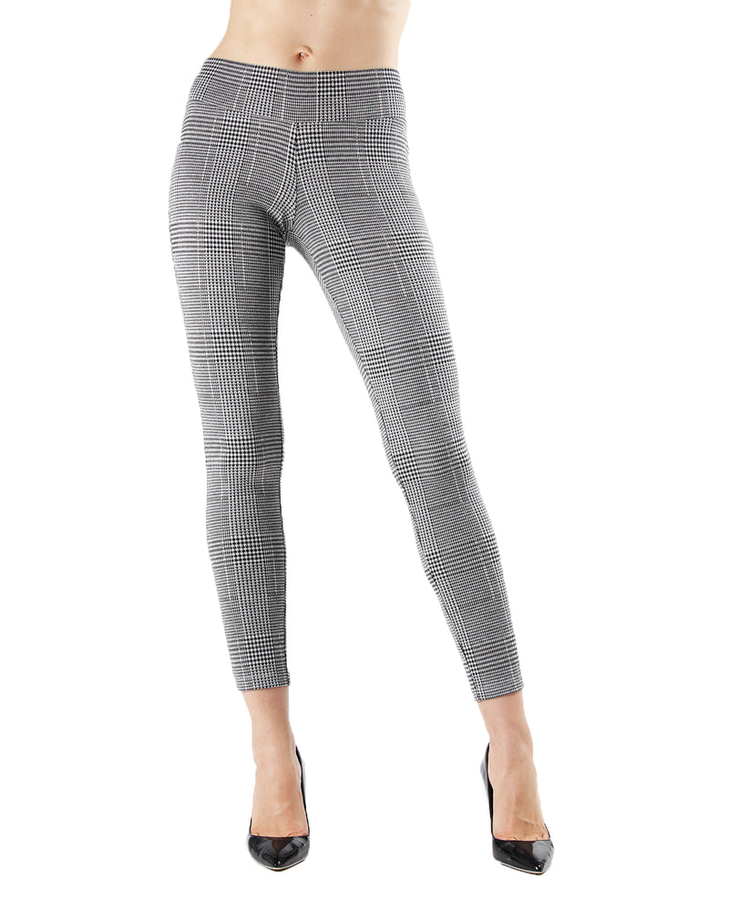 Herringbone Shaping Leggings | Leggings by MeMoi | MJF05440 | Black 1