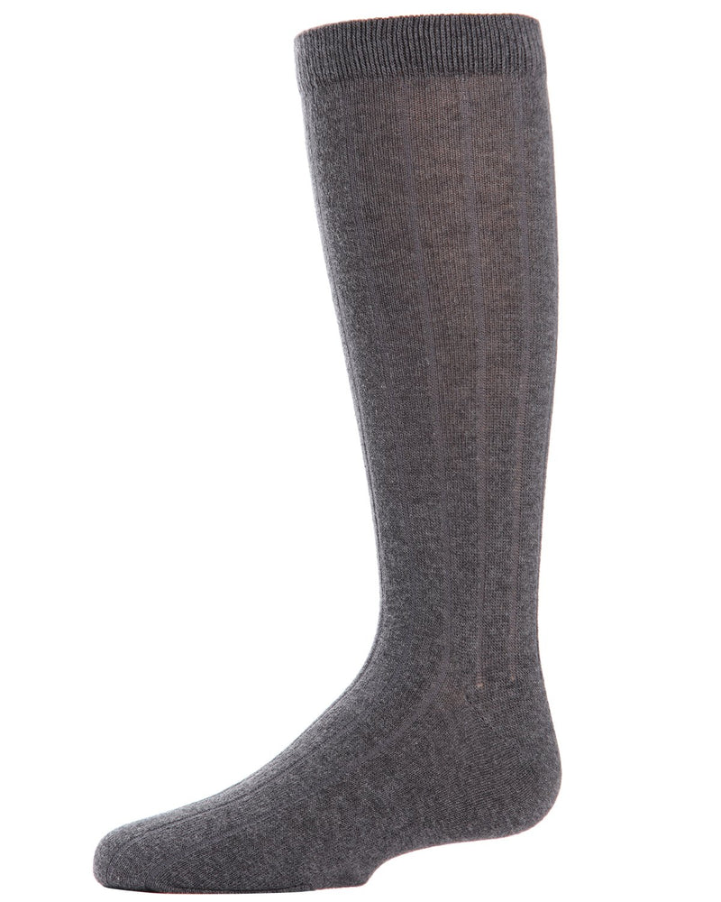 Boys Basic Ribbed Crew Socks 3-Pack