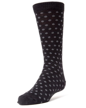 Polka Dot Boys Dress Socks
