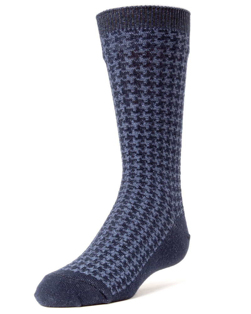 Houndstooth Boys Dress Socks