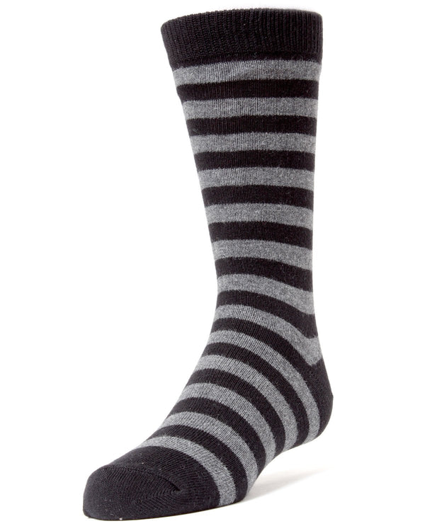 Two Color Striped Boys Dress Socks