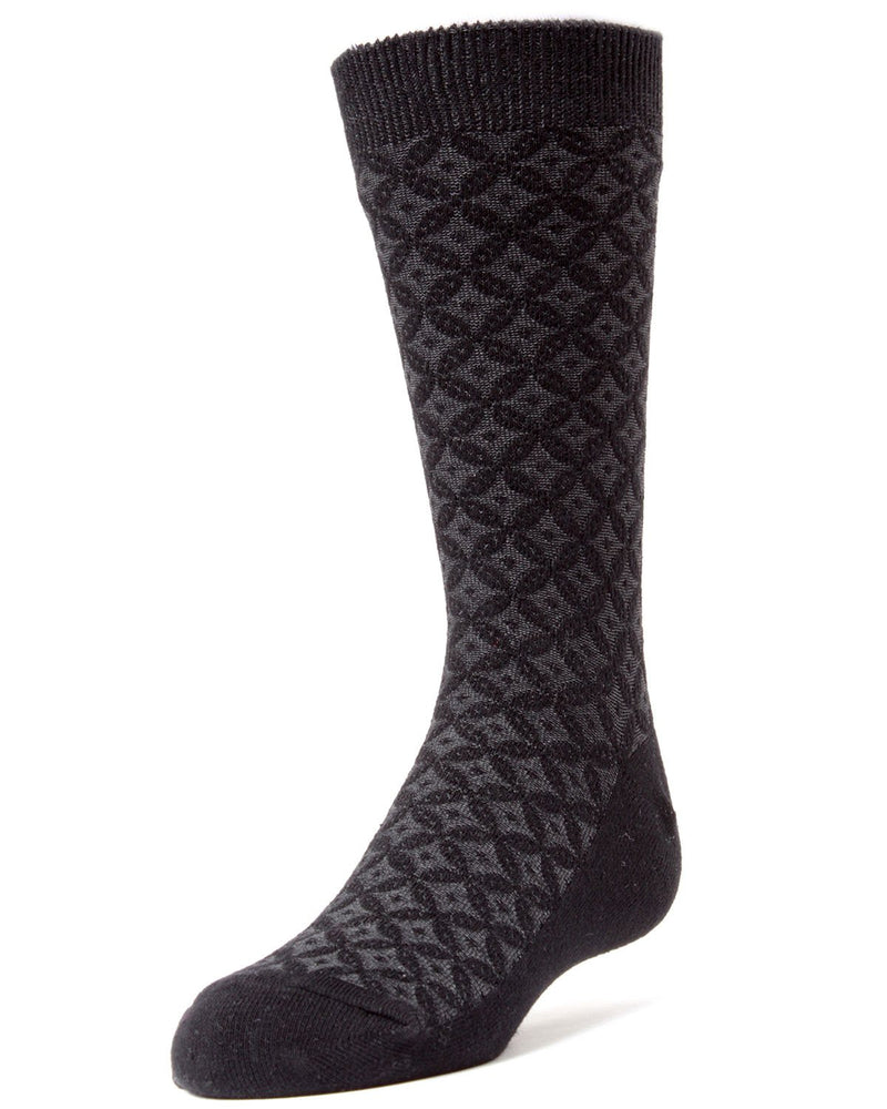 Diamonds and Dots Boys Dress Crew Socks