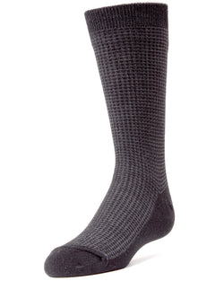 Diamond Textured Boys Dress Crew Socks
