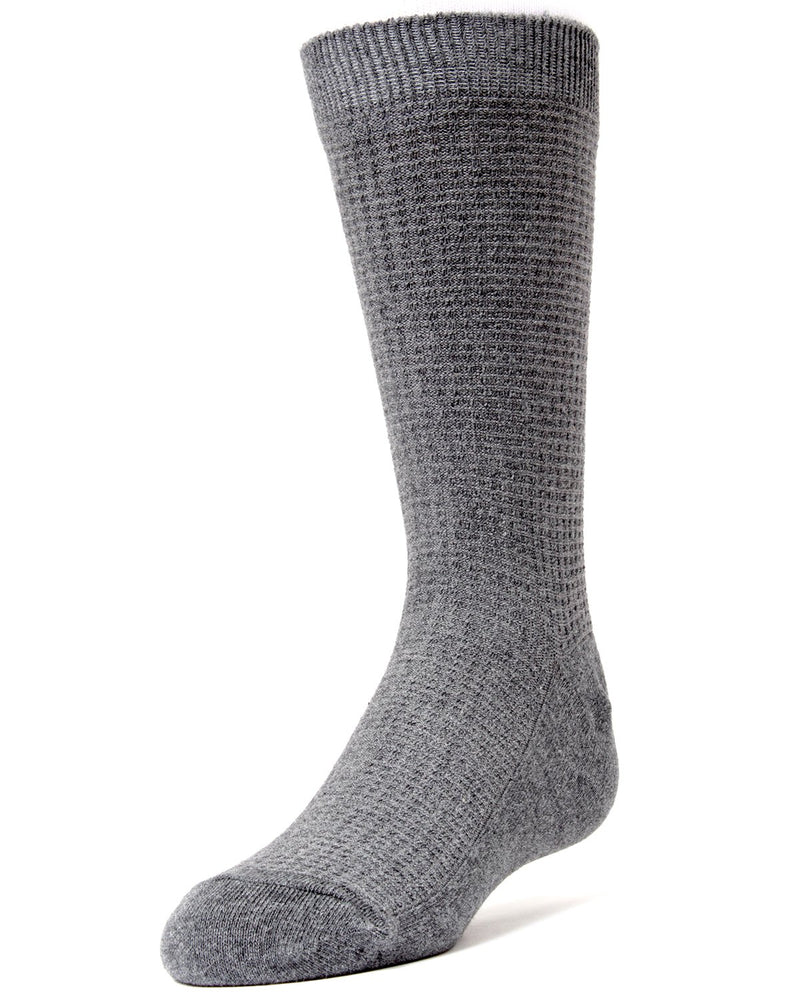 MeMoi Diamond Textured Boys Dress Crew Socks