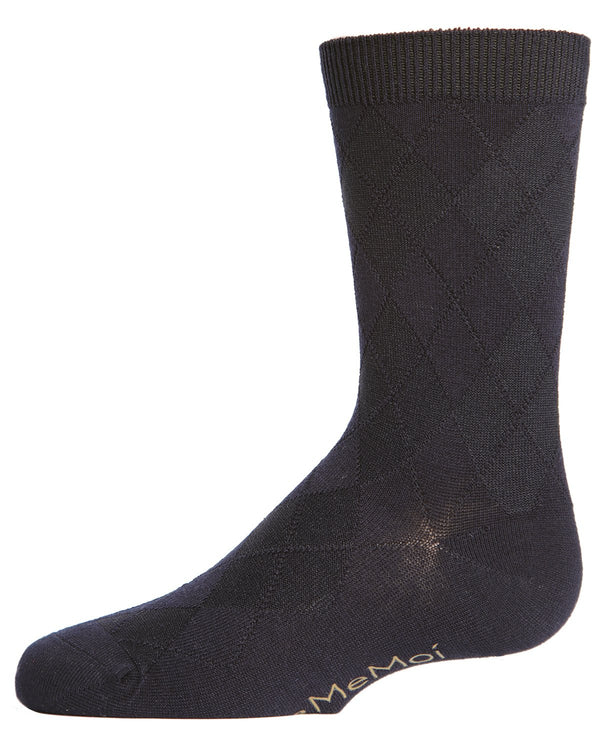 All Over Argyle Boys Dress Crew Socks