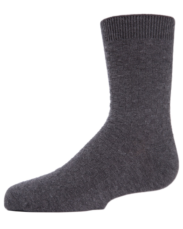 Boys Basket Weave Crew Socks