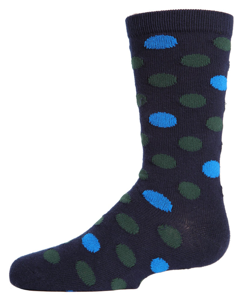MeMoi Spots and Dots Boys Crew Socks