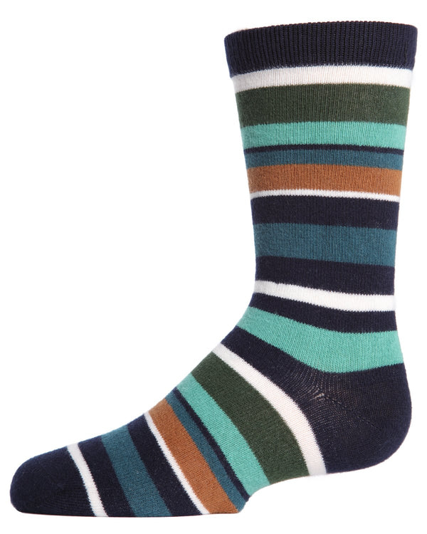 Bright Stripes Boys Crew Socks