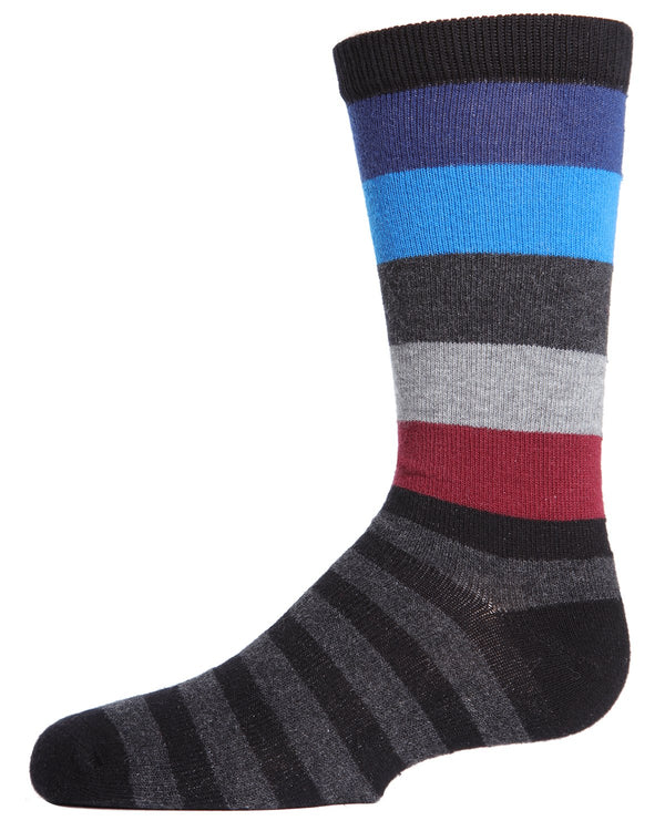 Bold Stripes Boys Crew Socks