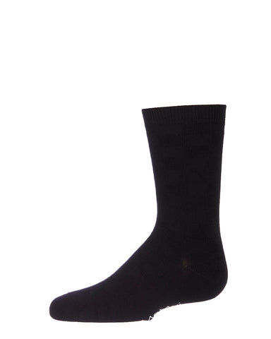 Checkerboard Bamboo Blend Boy's Crew Socks