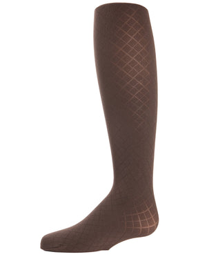 Double Diamond Girls Opaque Tights