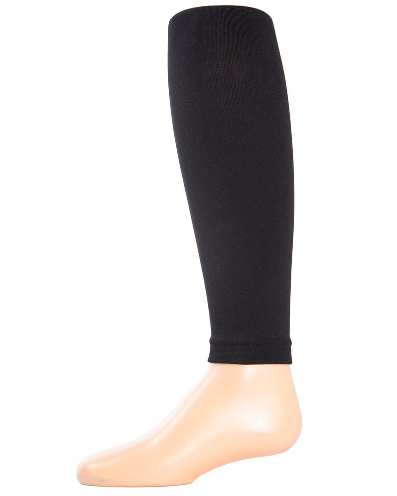 Girls Footless Tights | Tights for Girls | MeMoi Black MK-211