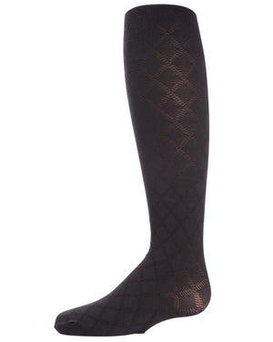 Flowers and Diamonds Girls Opaque Tights