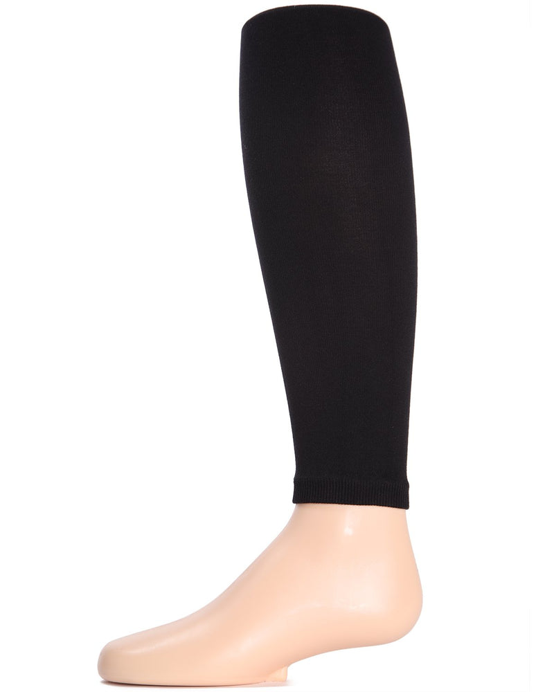 Girls Pima Cotton Footless Tights | Pima Cotton Tights by Girls by MeMoi | Black MK-310