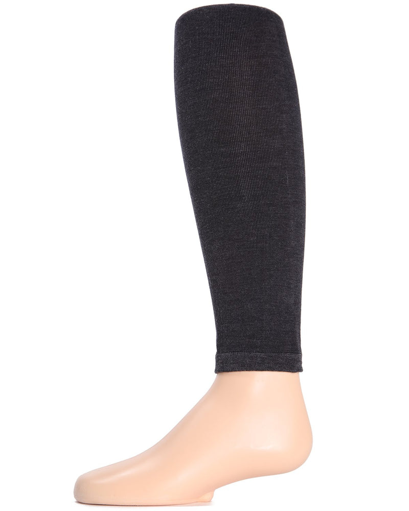 Girls Pima Cotton Footless Tights | Pima Cotton Tights by Girls by MeMoi | Charcoal MK-310