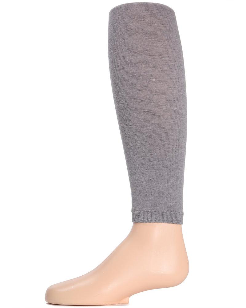 Girls Pima Cotton Footless Tights | Pima Cotton Tights by Girls by MeMoi | Grey MK-310