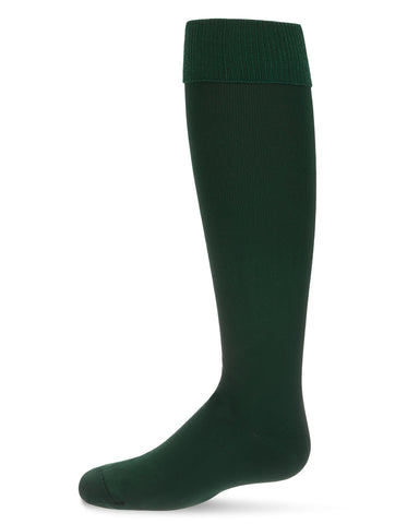 Cuffed Opaque Knee High Girl Socks