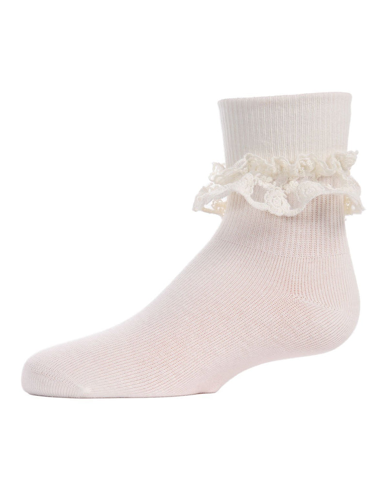 Double Dare Dual-Layer Lace Infant Anklet Socks
