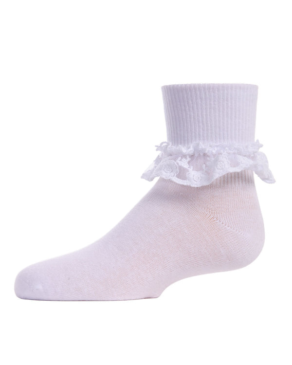 Double Dare Girls Dual-Layer Lace Anklet Socks