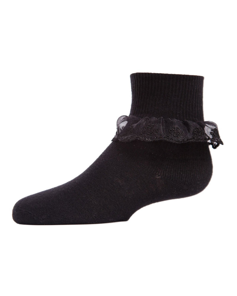 Classic Lace Girls Ruffle Anklet Socks