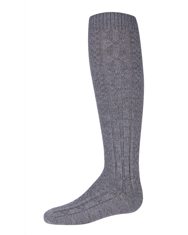 Chunky Cable Knee High Socks