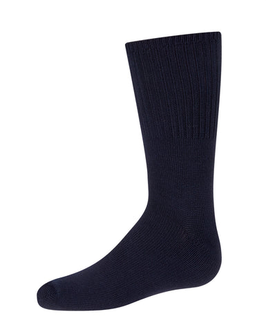 Kids Ribbed Crew Socks