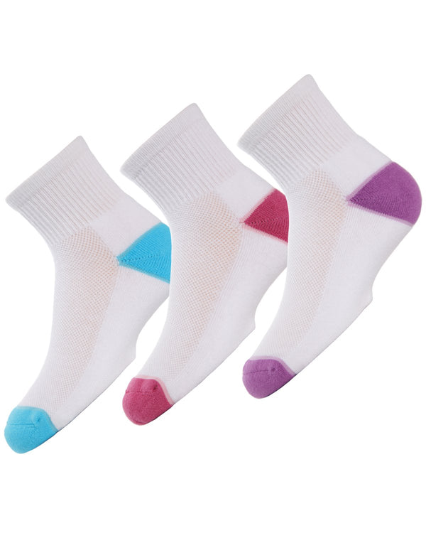 Unisex Quarter-Crew Sport Socks Three-pack
