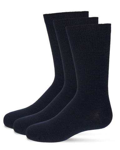 3-Pack Thin Ribbed Crew Socks