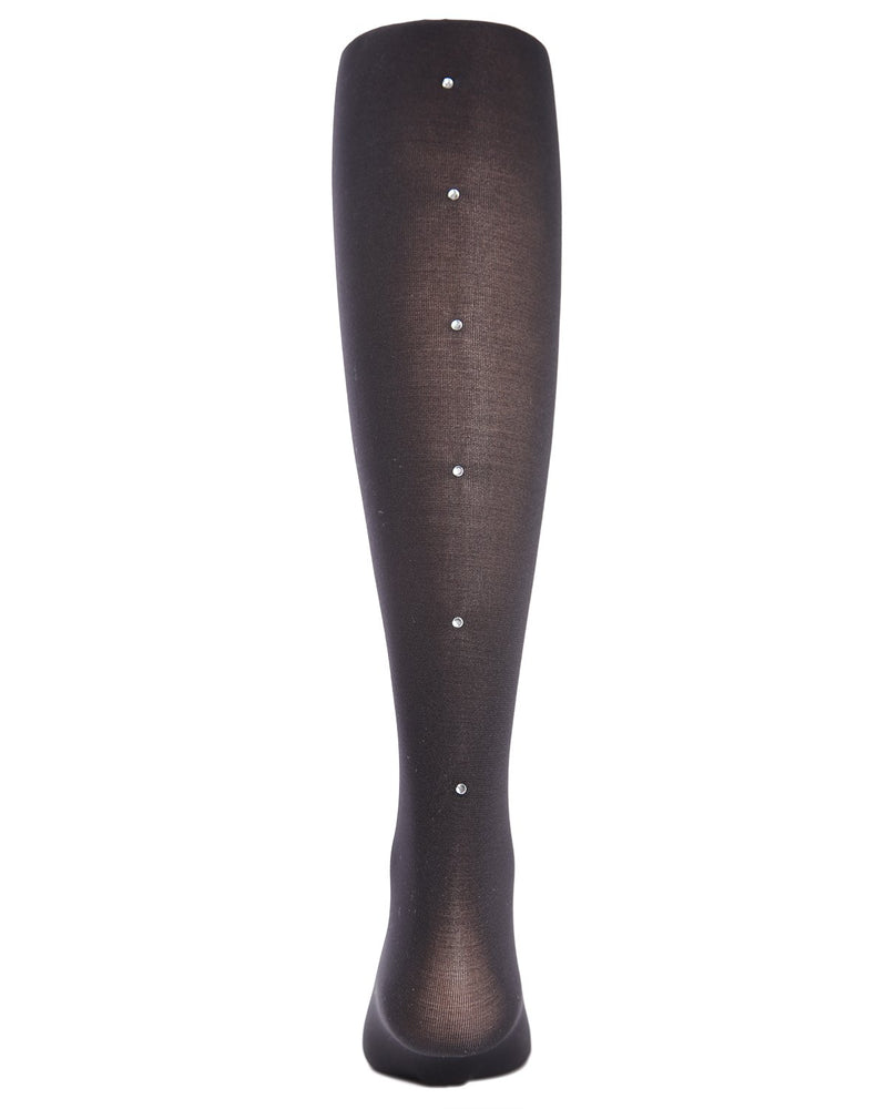 Rhinestone Backseam Girls Tights