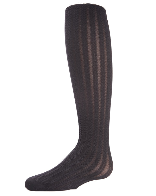 Classic Braid Pattern Girls Tights