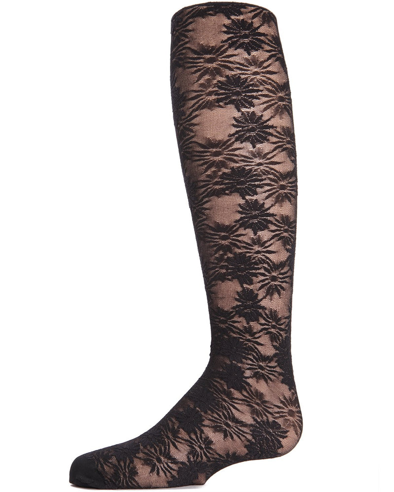 Flower Bunches Sheer Girls Tights