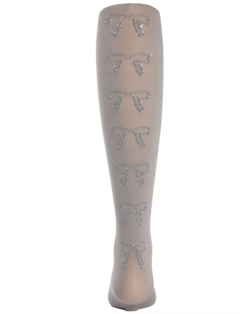 Bows in the Back Opaque Girls Tights