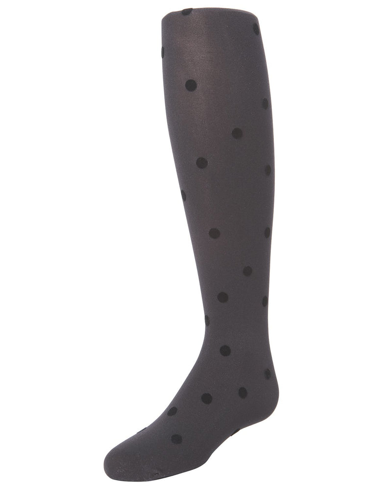 Flocked Dots Girls Tights