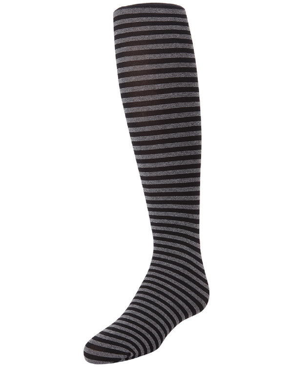 ROWS ON ROWS GIRLS STRIPED TIGHTS | MeMoi Girl's opaque tights - Pantyhose | Black MK 746