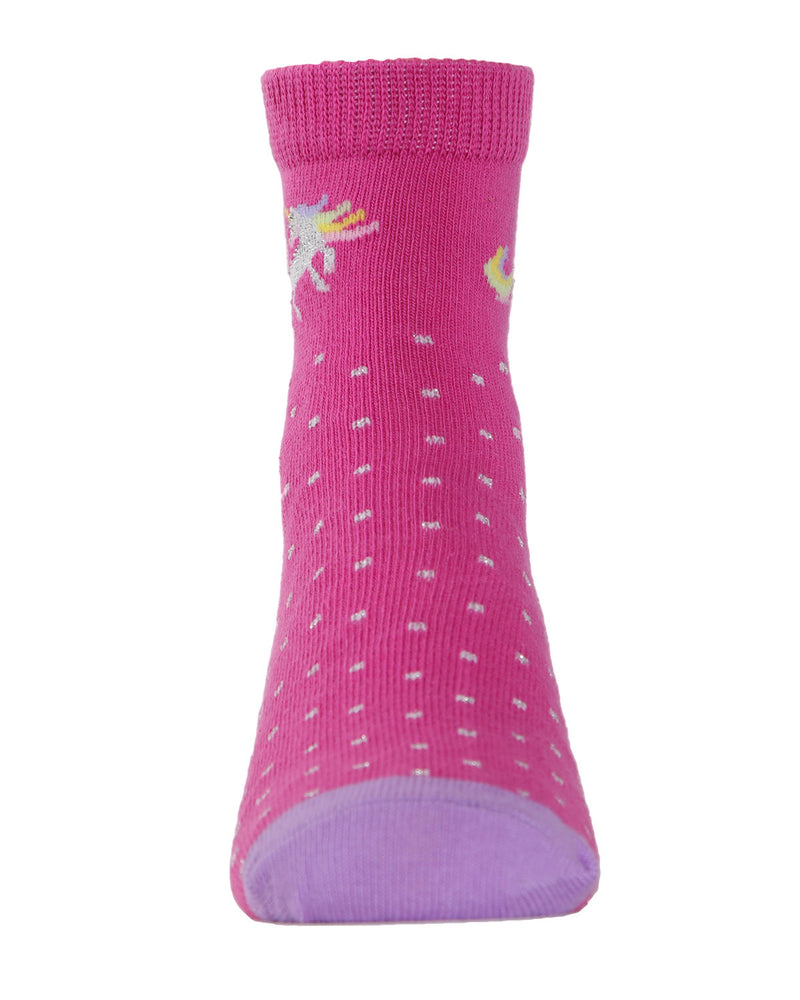 Unicorn Ankle Socks (3-Pak) | Girls Rainbow Ankle Sock by MeMoi | Assorted MKC 1000 -8