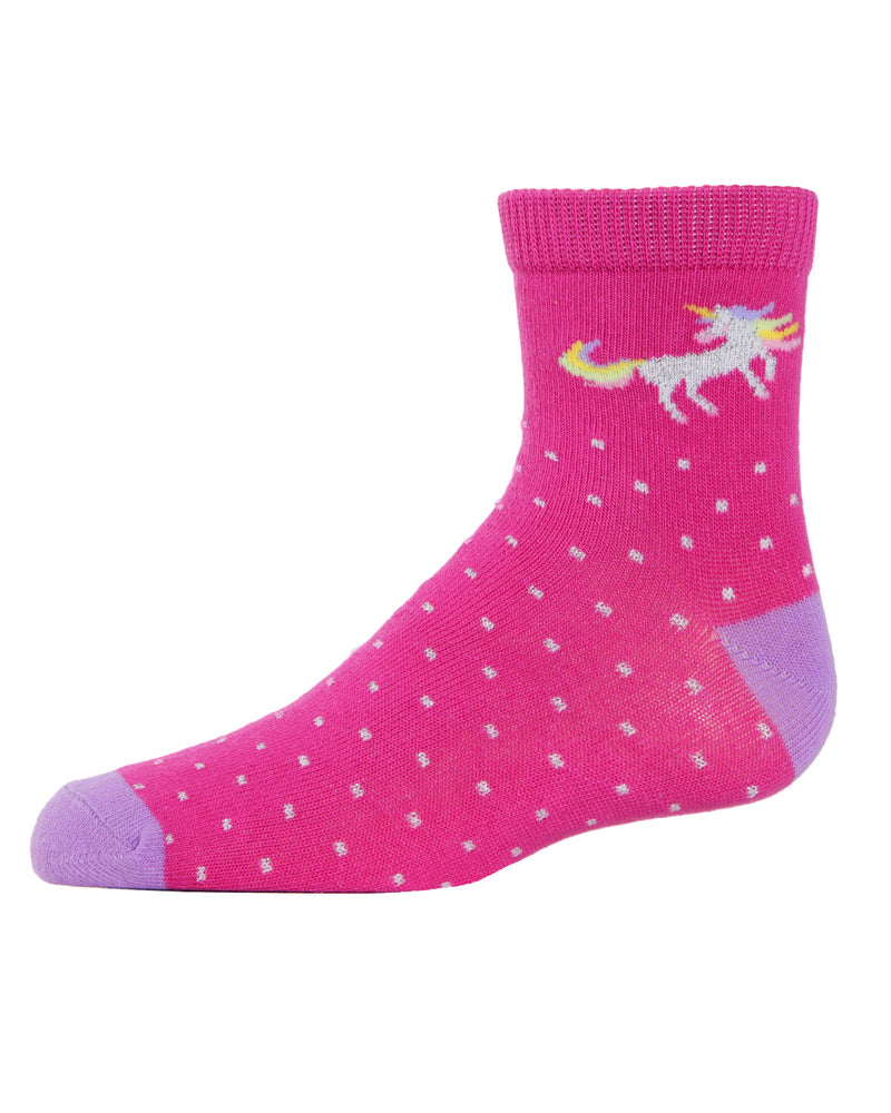 Unicorn Ankle Socks (3-Pak) | Girls Rainbow Ankle Sock by MeMoi | Assorted MKC 1000 -5