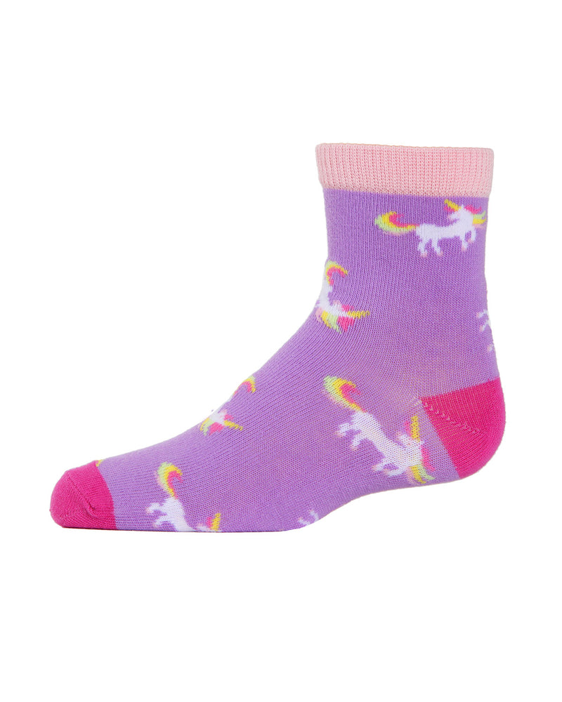 Unicorn Ankle Socks (3-Pak) | Girls Rainbow Ankle Sock by MeMoi | Assorted MKC 1000 -6