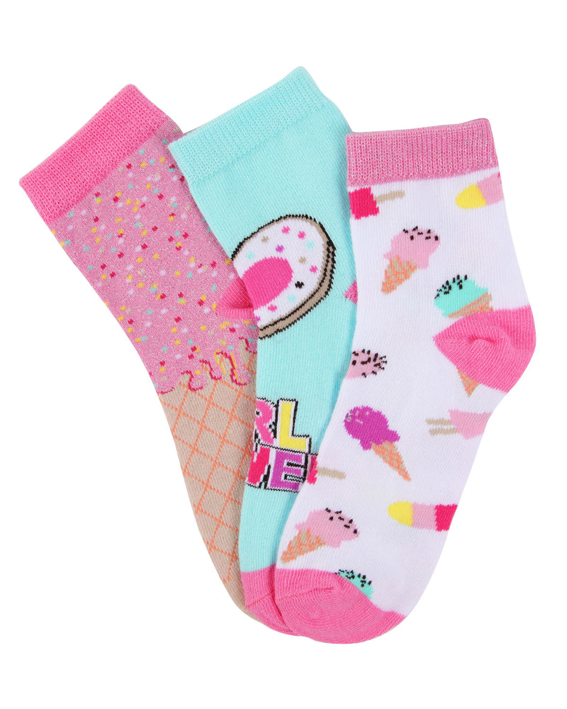 Ice Cream Ankle Socks | MeMoi Ankle Socks for girls  |  Assorted MKC 1001 -2