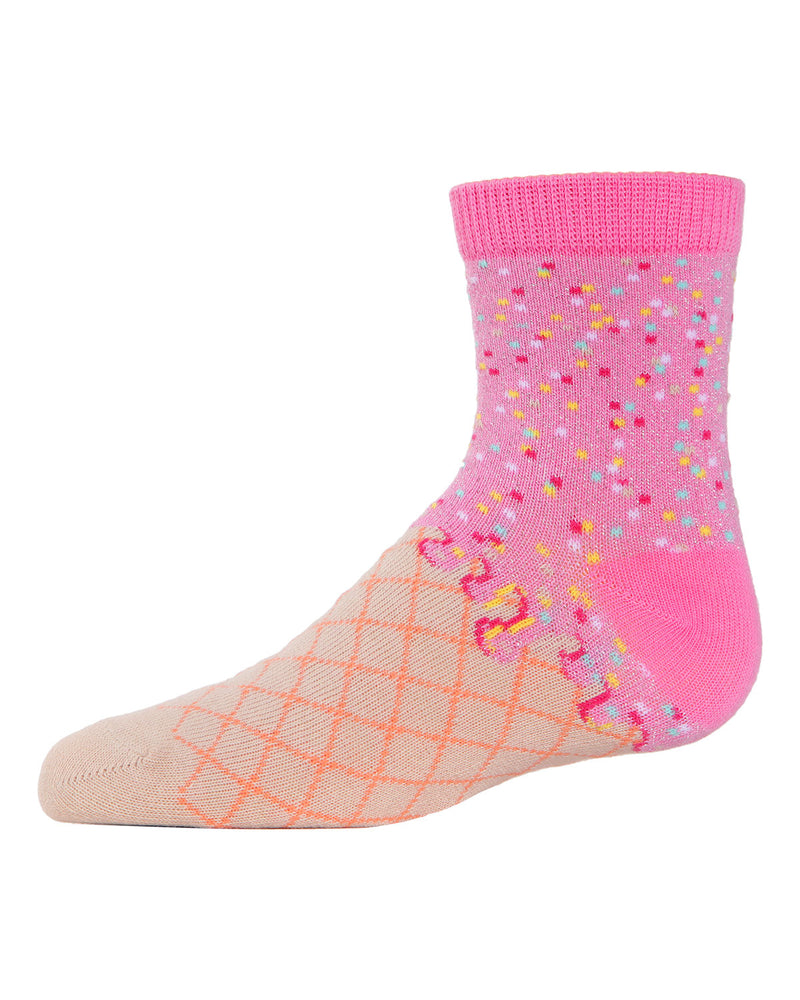 Ice Cream Mid Cut Socks | MeMoi mid cut Socks for girls |  Assorted MKC 1001 -7